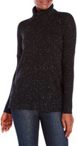 vertical design Cashmere Flecked Turtleneck Sweater