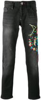 Philipp Plein embroidered jeans - men - Cotton - 32