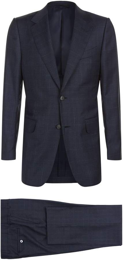 Dunhill Wool Check Printed Two-Piece Suit