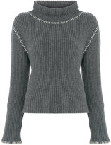 Moschino ribbed turtleneck jumper