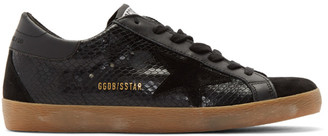 Golden Goose Black Snake Superstar Sneakers