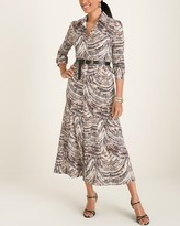 Chico's Chicos Printed Collared Maxi Dress