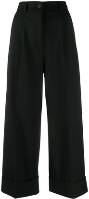 Semi-Couture Wide Leg Cropped Trousers