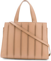 Max Mara embroidered tote - women - Cotton/Calf Leather/Polyester/Polyurethane - One Size