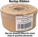 HomeTex Burlap Wired Burlap Ribbon, 2-Inch by 10-Yard Roll