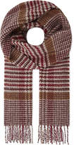 Johnstons Vintage check cashmere and wool scarf
