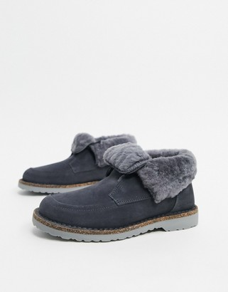 Birkenstock Bakki cold weather lined ankle boots in grey