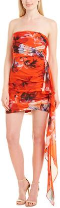Mason by Michelle Mason Ruched Silk-Blend Dress
