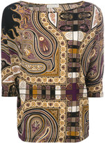 Etro boat neck blouse - women - Polyamide/Spandex/Elastane/Wool - 40