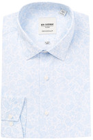 Ben Sherman Long Sleeve Skinny Fit Paisley Print Dress Shirt