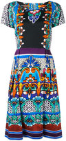 Alberta Ferretti printed flared dress - women - Cotton/other fibers - 40