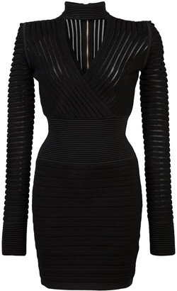 Balmain ribbed mini dress