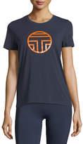 Tory Sport Crewneck Short-Sleeve Logo T-Shirt