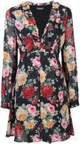 Twin-Set rose pattern flared dress - women - Polyester/Viscose - 42