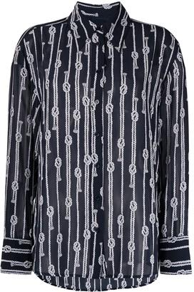 MICHAEL Michael Kors Knot-Motif Long-Sleeved Shirt