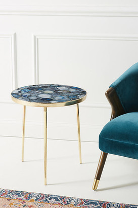 Anthropologie Agate Side Table By in Blue