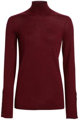 St. John Extra-Fine Merino Wool Turtleneck Sweater
