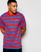 Nike Matchup Striped Polo Shirt In Red 727792-696