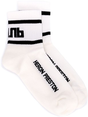 Heron Preston logo ankle-socks