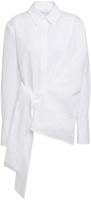 Victoria Victoria Beckham Tie-front Cotton-poplin Shirt