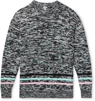 Loewe Striped Melange Cotton-Blend Sweater
