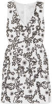 Rachel Zoe Shari Embellished Cotton-gauze Mini Dress - Off-white