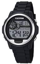 Calypso Unisex Digital Watch with LCD Dial Digital Display and Black Plastic Strap K5667/1