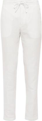 De Petrillo Slim-Fit Linen Drawstring Trousers