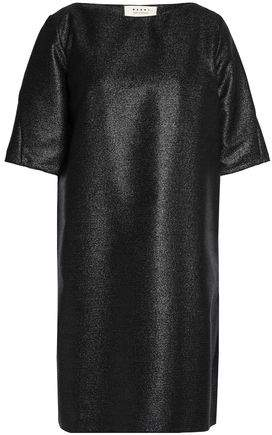 Marni Metallic Wool-blend Crepe Mini Dress