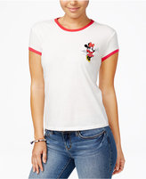 Mighty Fine Disney Juniors' Minnie Patch Graphic Ringer Tee