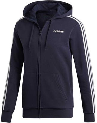 adidas Mens Essentials 3-Stripes Fleece Hoodie