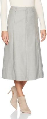 Pendleton Women's Petite Wool Flannel Long Boot Skirt
