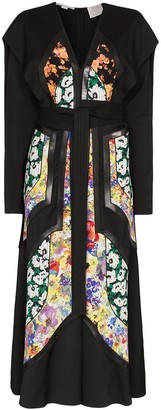 Stella McCartney Floral panel belted dress