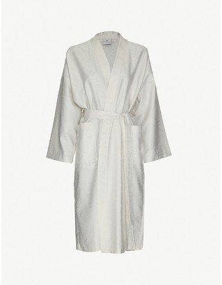 Yves Delorme Divine floral damask cotton kimono