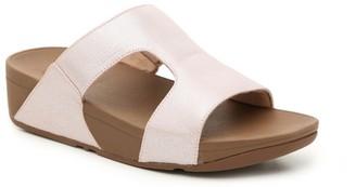 FitFlop H-Bar Shimmer Wedge Sandal