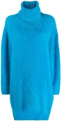 Gianluca Capannolo fuzzy sweater dress