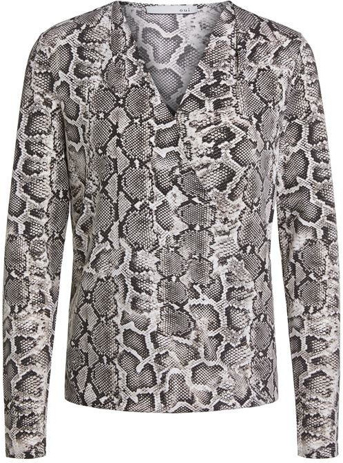Thumbnail for your product : Oui Long Sleeve Snake Blouse