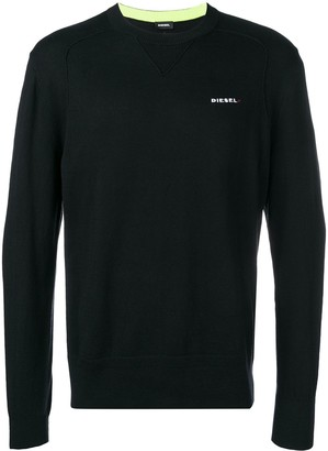Diesel Logo Embroidered Sweater