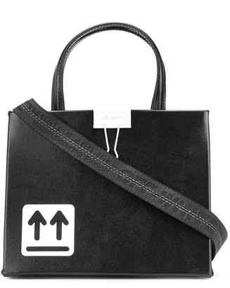 Off-White Paperclip Print Tote Bag