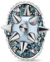 Gucci Ring with studs and crystals