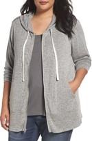 Sejour Plus Size Women's Zip Front Hoodie