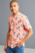 Urban Outfitters Pineapple Toss Short Sleeve Button-Down Shirt