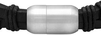 Steel by Design Men's Leather Bracelet