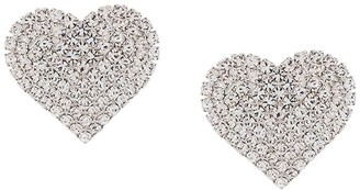 Alessandra Rich Embellished Heart Stud Earrings