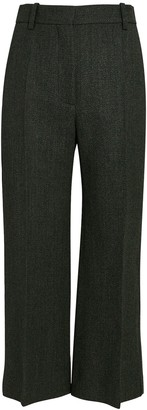 Victoria Beckham Pintuck Cropped Flare Trousers