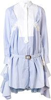 Sacai belted shirt dress - women - Silk/Cotton/Nylon/Rayon - 1