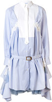 Sacai belted shirt dress - women - Silk/Cotton/Nylon/Rayon - 3