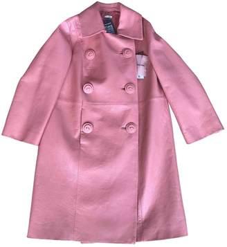 Miu Miu Pink Leather Coat for Women