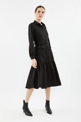 Coast Long Sleeve Midi Shirt Dress