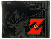 Bioworld Dragonball Z Bi-Fold Wallet Son Goku Anime Black Faux Leather Licensed